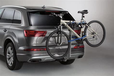 audi bike carrier 2013 audi q5 thule 174 hitch mounted carrier apex 4 bike