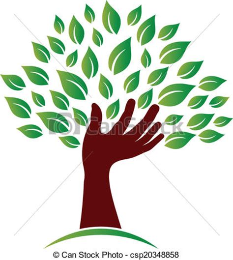 Vecteur Clipart de écologie, image., conscience, main