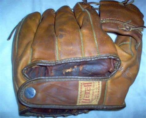 Hutch Baseball Glove 1950s mickey mantle hutch baseball glove
