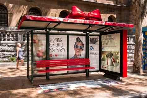 Load And Go Gift Card Australia Post - adshel bus shelters gift wrapped for australia post s load go b t