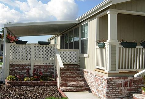 manufactured home front porch ideas wooden home