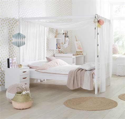 White Four Poster Bed by Four Poster Bed With Canopy 3 4 White For Children In S A