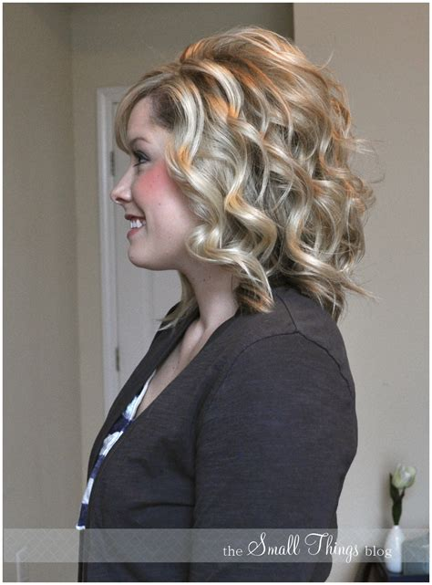 Curling Medium Length Hair With Curling Iron | curling with a flat iron the small things blog