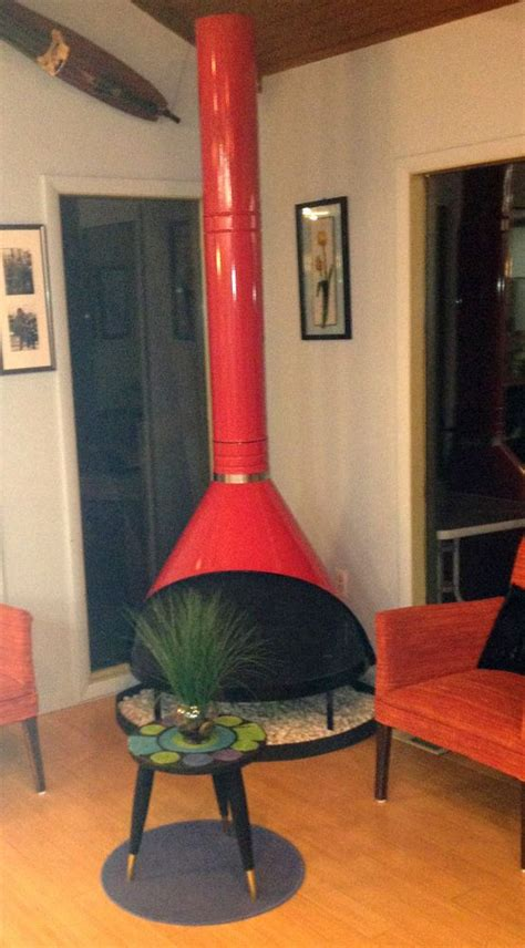 Retro Cone Fireplace by Mid Century Modern Cherry Preway Retro Cone