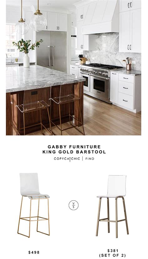 Gabby King Bar Stool by Gabby Furniture King Gold Barstool Copy Cat Chic