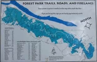 forest park trail map flickr photo
