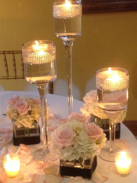 wedding reception centerpieces floating candles 17 best images about wedding centerpieces on mercury glass floating candles and