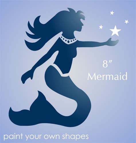 Free Printable Bathroom Signs by Stencil 8 Quot Mermaid Stars Nautical Sea Life Beach