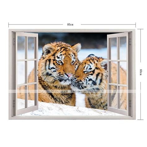 tiger home decor 3d wall stickers wall decals tiger home decor vinyl wall stickers 2657705 2017 33 99