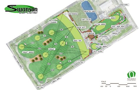 layout plan of land golf course designers