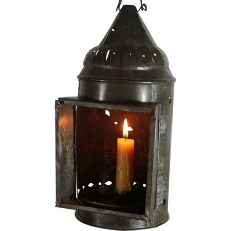 vintage primitive american candle lantern from