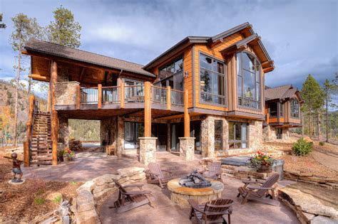 mountain houses 411 long ridge rustic exterior by pinnacle mountain homes