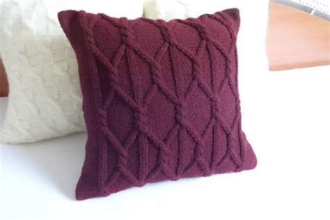 Eggplant Colored Throw Pillows by Custom Plum Chunky Knit Pillow Cover Eggplant Knit