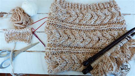 tejido de sirena en dos agujas patr 243 n para tejer un cuello y un gorro con trenzas dos