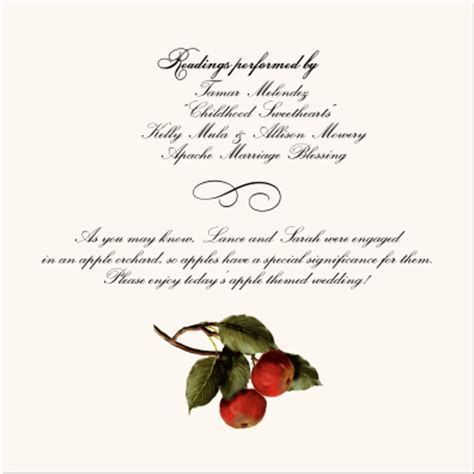 Vineyard Wedding Programs Grapes Fruit Illustrations Pear