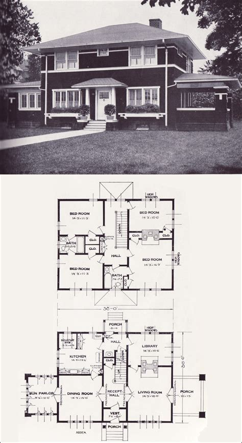 standard house plans 1920s vintage home plans the arden standard homes