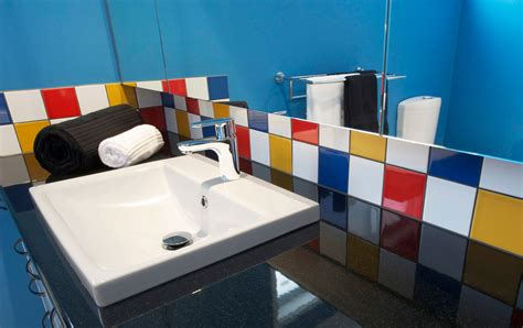 yellow and red bathroom bathroom renovationfun with colour kitchen update