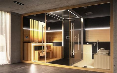 luxury home spa combines a sauna shower