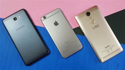 samsung j7 prime vs iphone 6 vs lenovo k5 note comparison