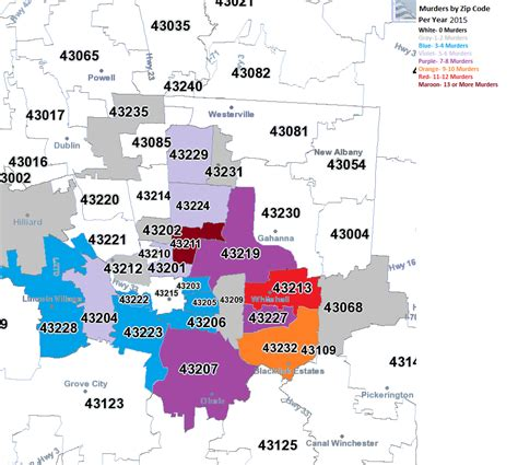zip codes map ohio  travel information
