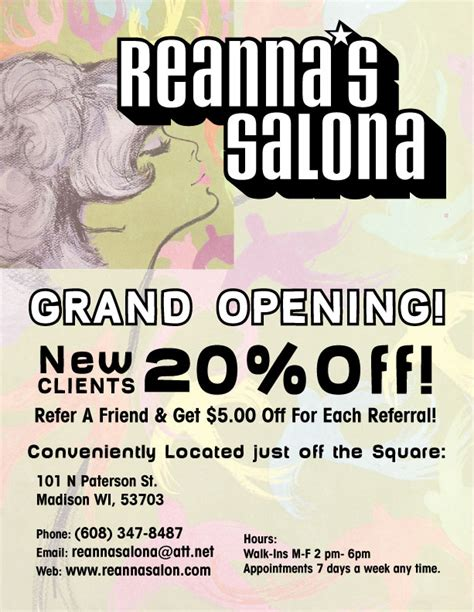 are you opening a new salon or giving your salon design a the gallery for gt beauty salon grand opening flyer