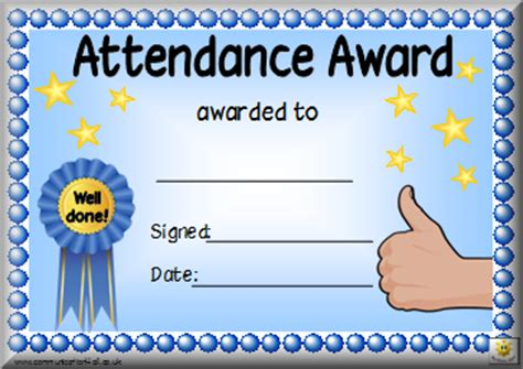 printable attendance certificates blank certificates
