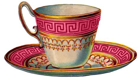 Bilder Teetasse by Vintage Images 2 Pretty Colorful Teacups The Graphics