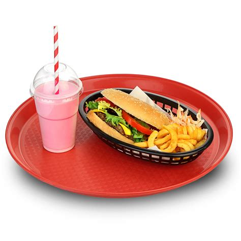 fast food tray 14 inch stackable plastic tray