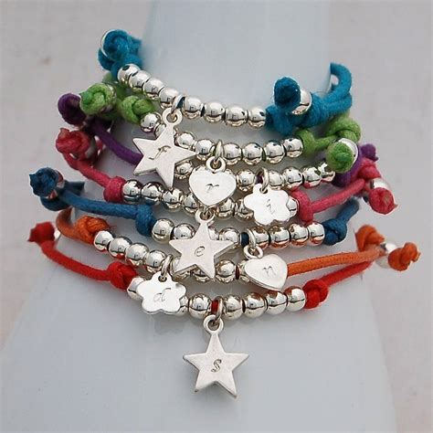 Handmade Childrens Jewellery - personalised silver friendship bracelet by