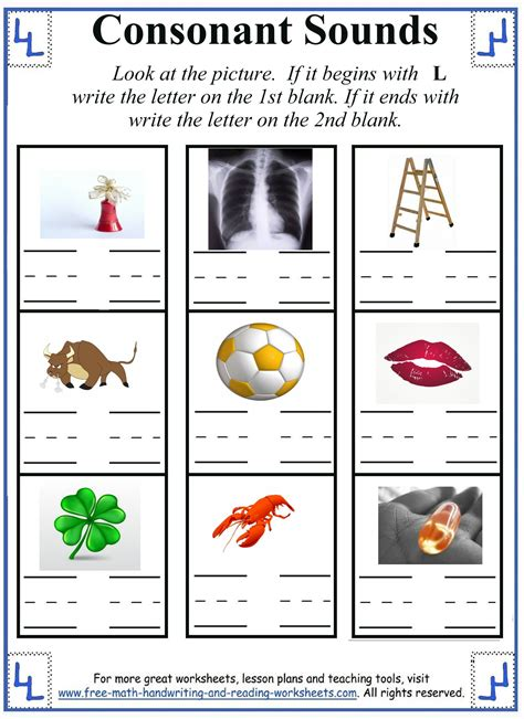 L Sound Worksheets by Free Consonant Ll Coloring Pages