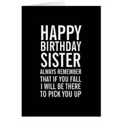 if you fall sister funny happy birthday card zazzle