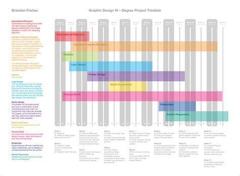 schedule layout graphic design brandon freitas design degree project timeline 2012 i