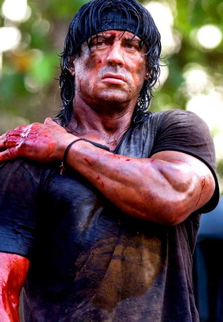 Sylvester Stallone In Rambo 4 by Aniston Sylvester Stallone Childhood Photos