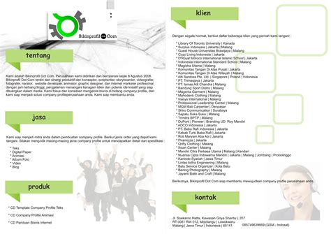 contoh desain layout company profile contoh company profile pengertian company profile