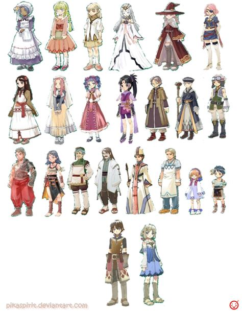 Rune Factory 4 Wardrobe by The Design Aesthetics For The Characters Are Nothing Sort
