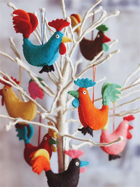 rocky rooster christmas tree ornaments set of 14 nova68 com