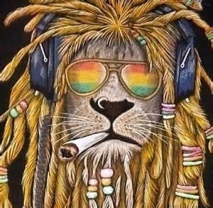 King like lion love marijuana music peace piercing rap rasta