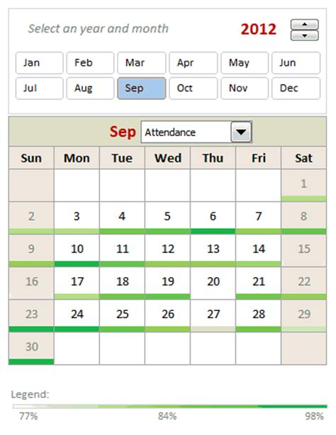 table calendar template interactive pivot table calendar chart in excel