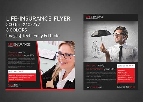 Life Insurance Flyer Print Templates Flyer Templates On Creative Market Insurance Flyer Templates