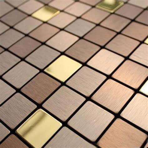 Adhesive Kitchen Backsplash by Gold Mosaic Tiles Self Adhesive Bronze Brush Metal