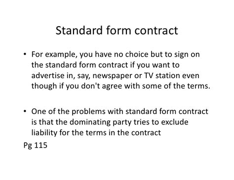 design and build standard form of contract 0105terms and standard form contract