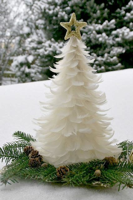 feather christmas tree center piece all about