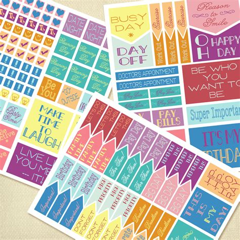 printable planner decorations printable planner stickers planner flags life planner