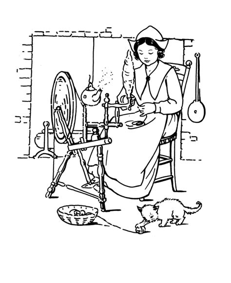 pilgrim house coloring page thanksgiving coloring pages pilgrim girl thanksgiving