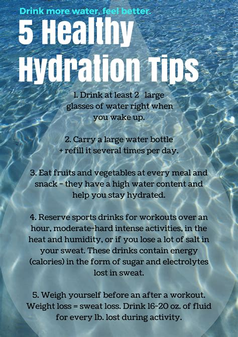5 hydration facts 5 tips to hydration a habit nutrition facts