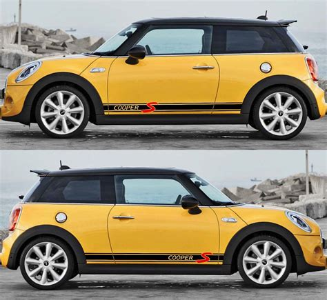 product  mini cooper  side stripe decals stickers