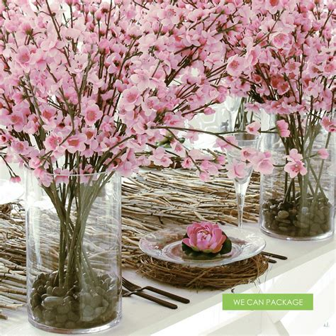 cherry blossom table decorations diy wedding centerpiece ideas do it yourself pearl