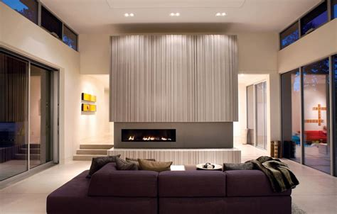 modern living rooms with fireplaces how to match a purple sofa to your living room d 233 cor