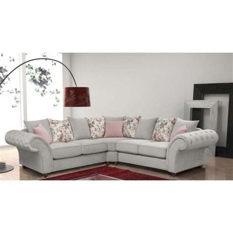 grey fabric chesterfield corner sofa new large chesterfield corner sofas silver grey fabric