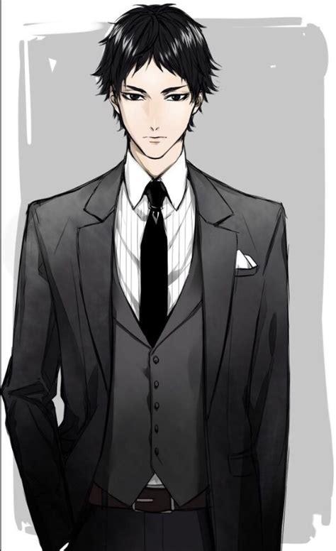 Anime Anime Boy Anime Guy Manga Haikyuu Image Anime Boy In Suit Drawing Free